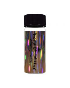 World Of Glitter Belgravia Silver Nail Foil 4 x 15cm