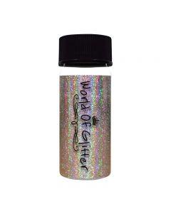 World Of Glitter Islington Silver Holographic Nail Foil 4 x 15cm