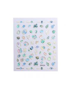 World Of Glitter Agate Nail Art Sticker Sheet