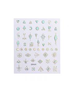 World Of Glitter Aztec Nail Art Sticker Sheet