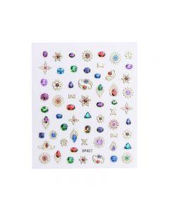 World Of Glitter Jewel Nail Art Sticker Sheet