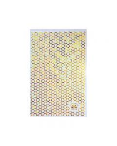 World Of Glitter Honeycomb Gold Nail Sticker Sheet