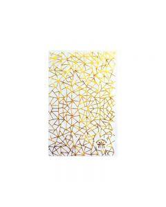 World Of Glitter Geo Gold Nail Sticker Sheet
