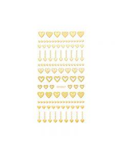 World Of Glitter Heart Of Gold Nail Sticker Sheet