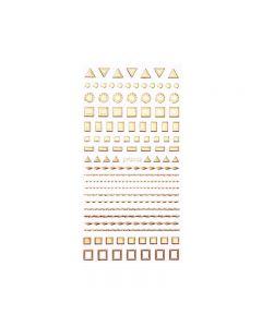 World Of Glitter Ship Shape Nail Sticker Sheet
