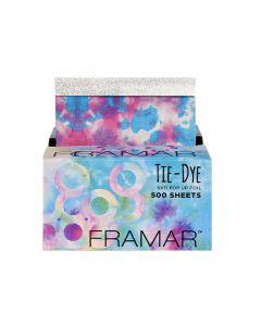 Framar Tie Dye Pop Up Foil Sheets x 500 (25cm x 13cm)