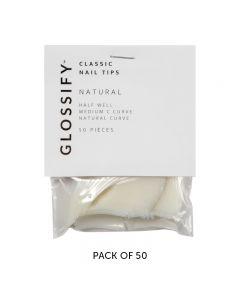 Glossify Classic Natural Nail Tips Size 8 x 50