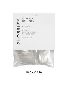 Glossify Advance Clear Nail Tips Size 1 x 50