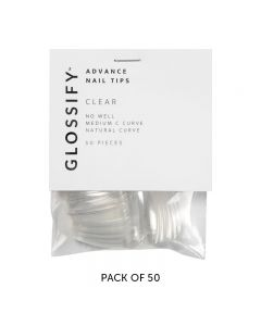 Glossify Advance Clear Nail Tips Size 4 x 50