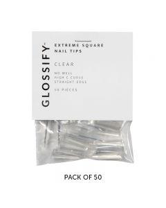 Glossify Advance Natural Nail Tips Size 1 x 50