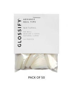 Glossify Advance Natural Nail Tips Size 3 x 50