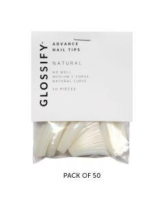 Glossify Advance Natural Nail Tips Size 7 x 50