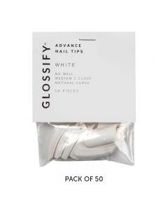 Glossify Advance White Nail Tips Size 1 x 50