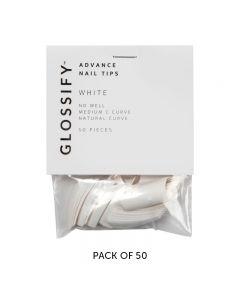 Glossify Advance White Nail Tips Size 9 x 50