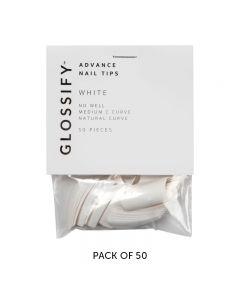 Glossify Advance White Nail Tips Size 10 x 50
