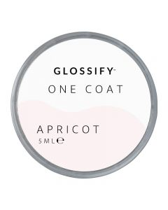 Glossify One Coat Gel 5ml Apricot
