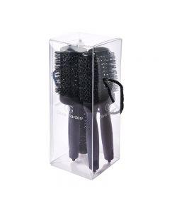 Olivia Garden Black Label Thermal 4 Piece Brush Kit