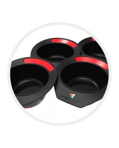 Prism Pot Raucous Rouge Red Pack of 4 Tint Bowls