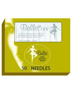 Ballet Gold Plated Needles F4 004 (x50)
