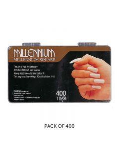 Millennium Square Nail Tips Box of 400