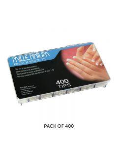 Millennium French White Tip Nail Tips Box of 400