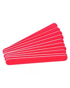 The Edge Neon Red File 100/100  Grit (Pack of 10)