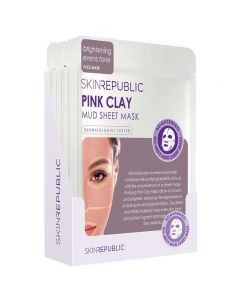 Skin Republic Pink Clay Mud Sheet Face Mask Pack of 10