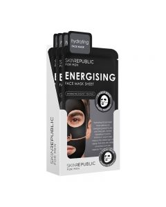 Skin Republic Mens Energising Face Mask Sheet 23ml Pack Of 10