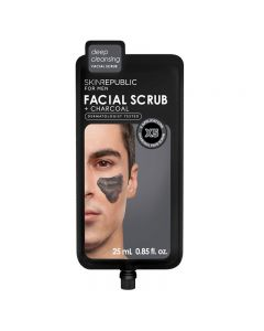 Skin Republic Mens Charcoal Facial Scrub 25ml