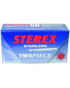 Sterex Stainless Steel F4S Two Piece Needles - Box of 10