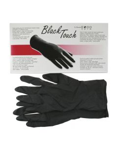 Black Touch Gloves x 5 Pairs Large
