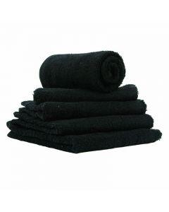 Chlorine Resistant Dyed Black Towels x12