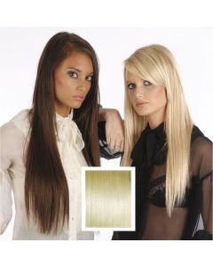 Universal 18in Very Light Blonde 613 Clip in Human Hair Extensions 105g