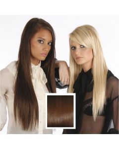 Universal 18in Dark Auburn 33 Clip in Human Hair Extensions 105g