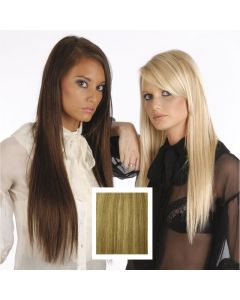 Universal 18in LightBrown/MediumBlonde/Lightest Blonde P12/16/613 Clip in Human Hair Extensions 105g