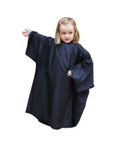 Salons Direct Childrens Crinkle Nylon Gown with Sleeves, Black