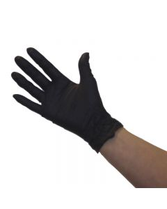 Pro Nitrile Non-Latex Gloves Black Large x 50 pairs