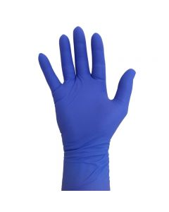 Pro Nitrile Gloves Long Cuff Violet Medium x 25 pairs