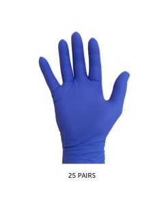 Pro Nitrile Gloves Long Cuff Violet Large x 25 pairs