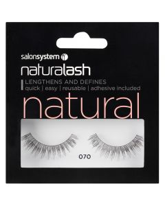 Salon System Naturalash Strip Lashes 070 Black