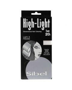 Sibel Silver High-Light Foam Wraps Small 9.5 x 20cm 200 sheets