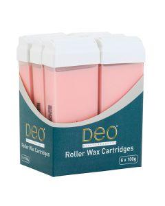 DEO Roller Wax Pink Cartridges 100ml x 6