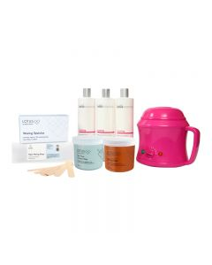 Lotus Waxing Starter Kit with 500cc Analogue Pink Heater