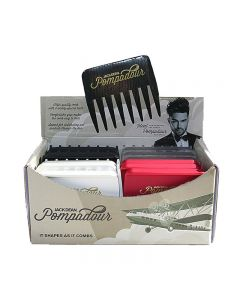 Jack Dean Pompadour Comb Box of 24 Assorted Colours