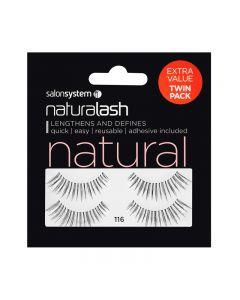 Salon System Naturalash Twin Pack Strip Eyelashes 116 Black