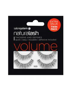 Salon System Naturalash Twin Pack Strip Eyelashes 100 Black