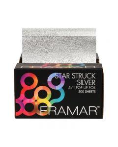 Framar Foil It Star Struck Silver Pop Up Foil Sheets x 500 (28cm x 13cm)