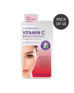 Skin Republic Brightening Vitamin C Face Mask Sheet 25ml Pack of 10