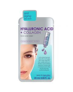 Skin Republic Hyaluronic Acid & Collagen Face Mask Sheet 25ml Pack of 10