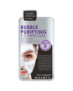 Skin Republic Bubble Purifying & Charcoal Face Mask Sheet 20ml Pack of 10